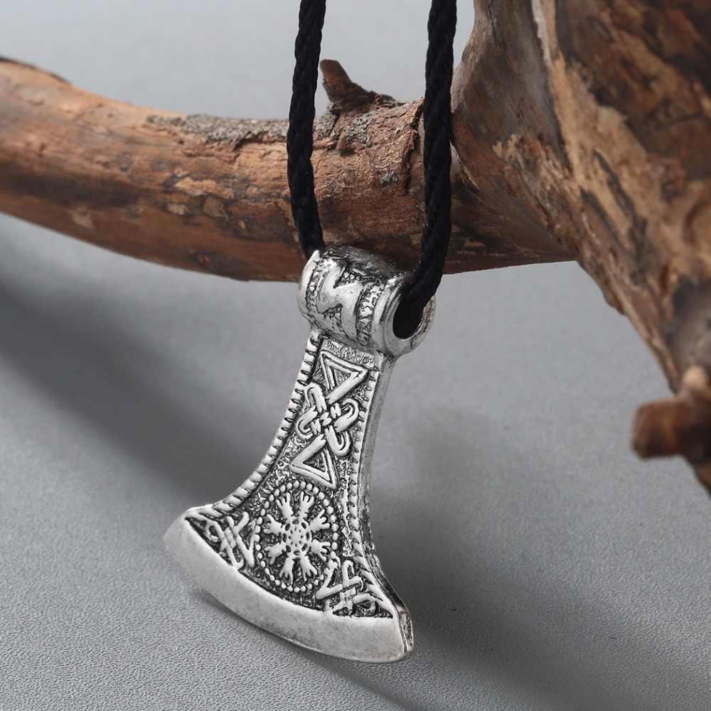 CHENGXUN 2017 słowiańskich topór wisiorek Norse Amulet Mjolnir naszyjnik wojownik talizman wisiorek germański mężczyzna naszyjnik oryginalna biżuteria