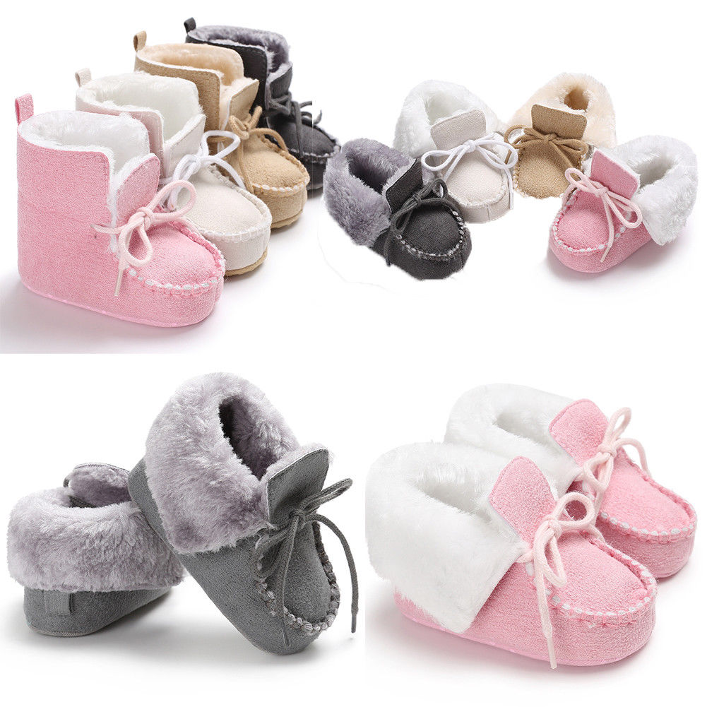 2018 New Winter For Child Kid Girl Boy Snow Boots Comfort Thick Antislip Short Boots For New Year Fashion Cotton-padded Shoes