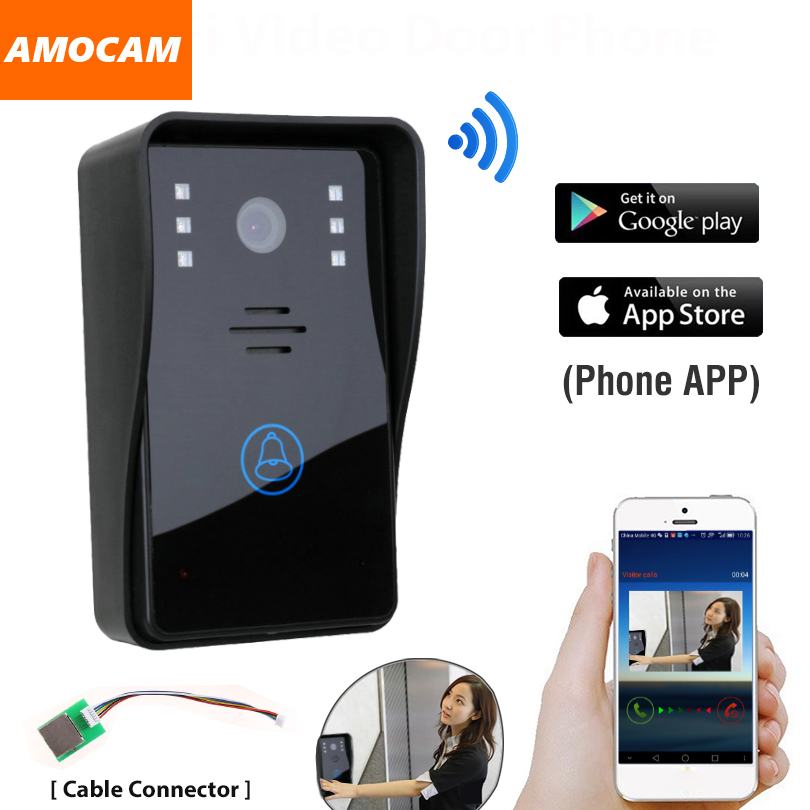 Smart Wireless WiFi Video Door Phone Doorbell Intercom Camera for  IOS Android App IR Night Vision Remote Controller 2016 new wifi doorbell video door phone support 3g 4g ios android for ipad smart phone tablet control wireless door intercom