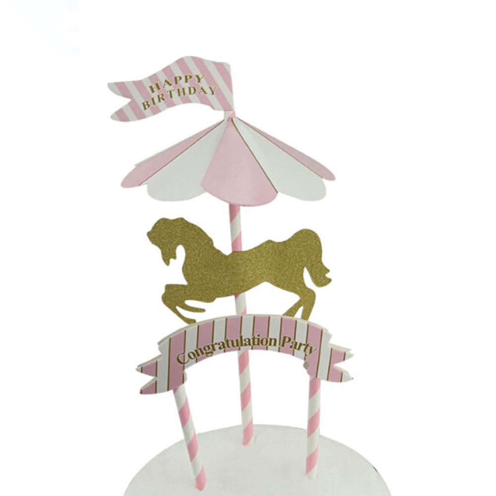 Unicorn Party Cupcake Toppers Decoration Cake Inserts Card Cartoon