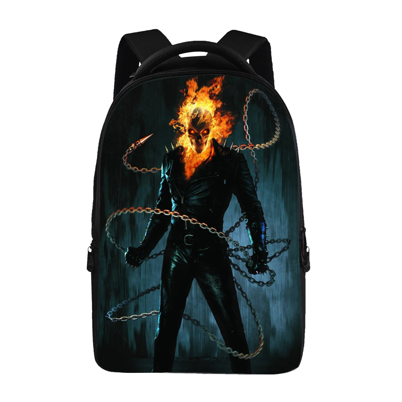 Mochila Vintage Creative 3D Skull Printing Backpack Men Punk Rock Women Backpacks Bag Pirate Backpack School Bags for Teenagers gravity falls backpacks children cartoon canvas school backpack for teenagers men women bag mochila laptop bags