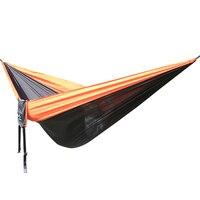 나일론 낙하산 해먹 캠핑 생존 정원 스윙 레저 여행 휴대용 야외 가구 300*200 cm 그물 침대