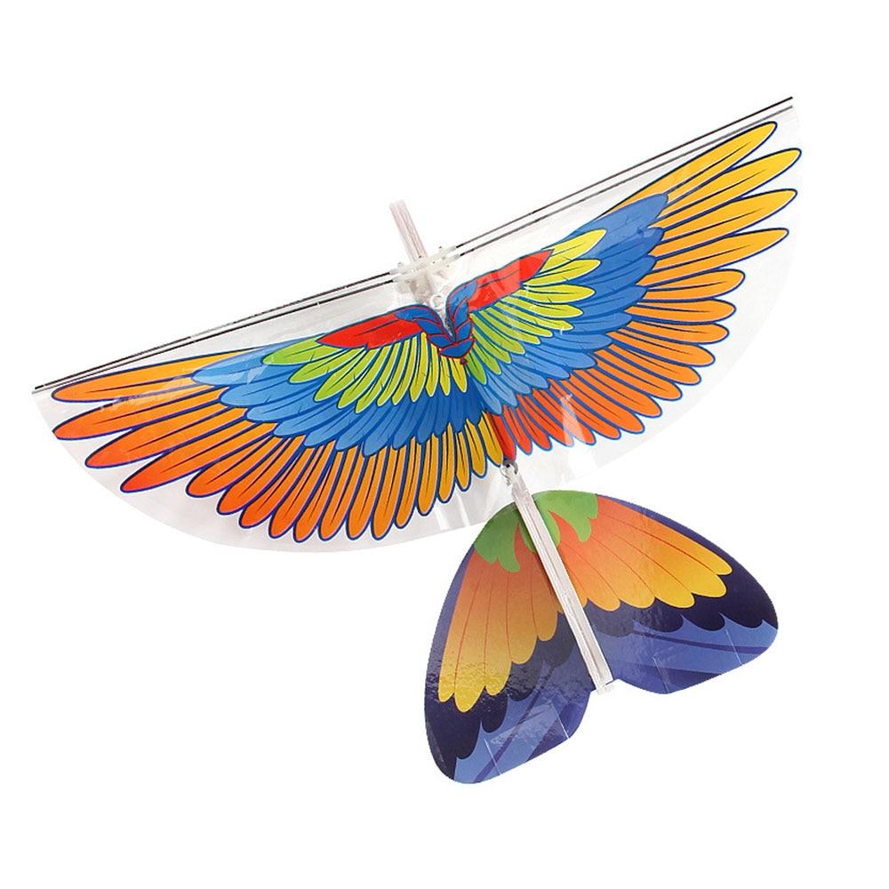 Удивительная Rc E-Flying птицы Попугай инфракрасная игрушка управления Rc летящая птица для электрических птиц Прямая - Цвет: 2