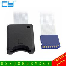 Standard SD SDHC Memory Card Kit Male to SD Female Extension Soft Flat FPC Cable Extender