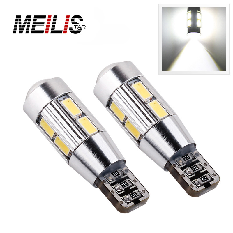 2Pcs Car Auto LED T10 194 W5W Canbus 5630 5730 LED Light Bulb No Error Led Parking Fog Light No Error Front Turn Signal Light car led 1pcs t10 194 w5w dc 12v canbus 6smd 5050 silicone shell led lights bulb no error led parking fog light auto car styling