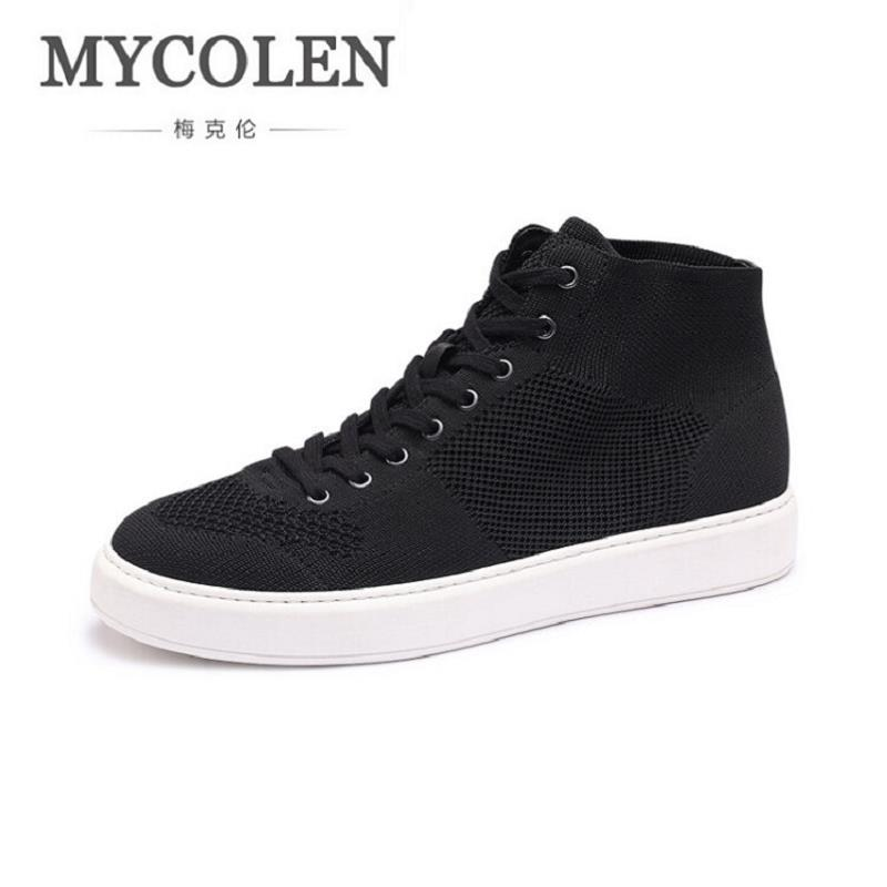 MYCOLEN Men Shoes 2017 New Arrival Mesh Comfortable Spring Autumn Casual Shoes For Men High-Top Laces Up Male Shoes Ayakkabi gram epos men casual shoes top quality men high top shoes fashion breathable hip hop shoes men red black white chaussure hommre