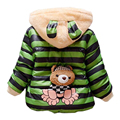 2017 Warm Baby Girls Coat Winer Cartoon Panda Boys Girls Jacket For Children Hooded Fleece Lining Cotton-Padded Kid Coat