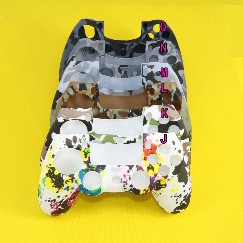 Camouflage Soft Silicone Cover Case Protection Skin For Sony Playstation Dualshock 4 Controller For PS4