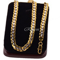 1pcs 7mm 45cm-90cm  Mens Women Unisex Yellow White Gold Plated Link Necklace Curb Closed Chain Jewelry E95