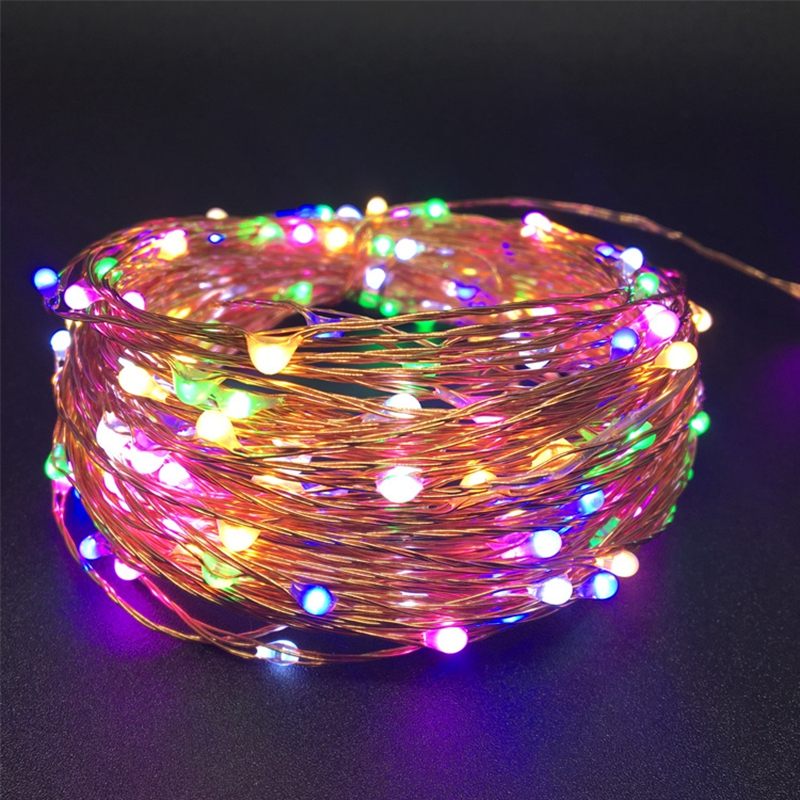 DC12V Led Fairy String Light 5M 50 Led Waterproof Outdoor Silver Copper Wire Christmas New Year Wedding Party Decoration
