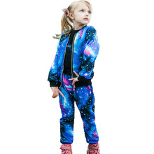 2019 Autumn Girls Clothing Sets Children Tracksuit Fashion Zipper Coat And Pant Set Kids Clothes Set Carnival Girl Sports Suit стоимость