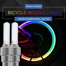 VVVIST 2PCS Bike Motorcycle Car Wheel LED Light Tyre Valve Cap Flash Lamp Caps On Wheels Tires Accessories Auto