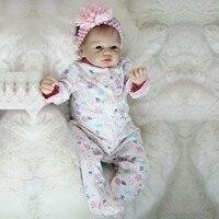 OtardDolls 22inch Soft Silicone Vinyl Doll Boneca Reborn 55cm Soft Silicone Reborn Baby Doll Newborn Lifelike Bebe Reborn Dolls