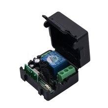 Kebidu Interruptor de Control remoto inalámbrico Universal, 433MHz, transmisor DC12V 10A con receptor, 433mhz, mando a distancia para casa y coche