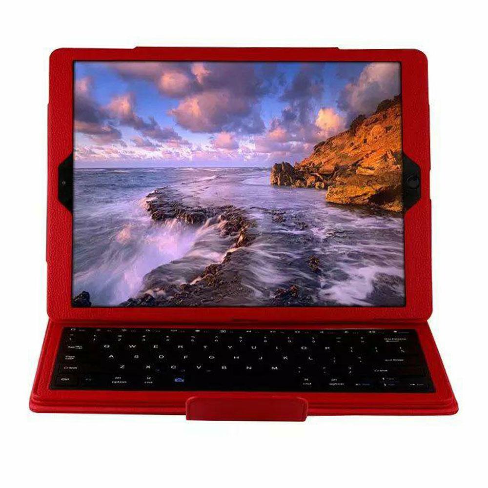 BT3.0 беспроводная клавиатура-Чехол клавиатура Bluetooth крышки дело IOS ультра тонкий для IPad 12,9 дюйма Беспроводной - Цвет: red