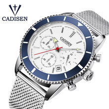 CADISEN 2019 new Men's Watches Quartz Wristwatch Mens Top Brand Luxury Watch Men Military Watch Chronograph Relogio Masculino luxury brand cadisen men watch quartz watches big design dual time zone casual military waterproof wristwatch relogio masculino