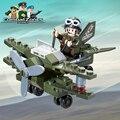 Militar enlighten educational building blocks juguetes para los regalos de los niños de la fuerza aérea compatible con legoe