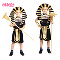 OHCOS Best Selling Children Egyptian Pharaoh Cleopatra Costumes Halloween Cosplay Boy Costume Egypt Prince Family Party