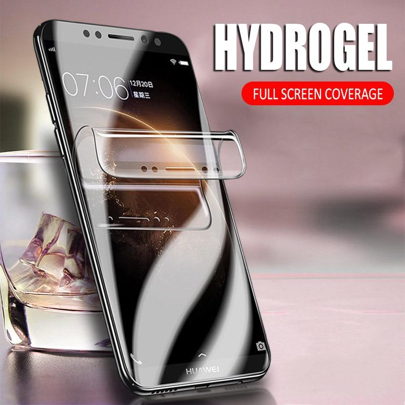 Film Hydrogel souple couverture complète pour Huawei Nova 3 3i Y5 Y6 Prime Y9 2018 sur Honor 7A Pro 7C P protecteur d'écran intelligent HD pas verre