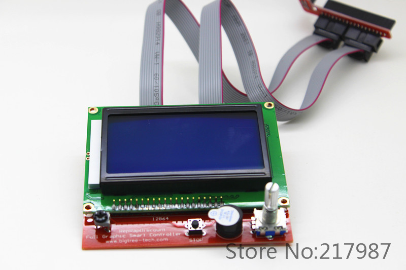 High Quality 1 pcs RAMPS1 4 LCD 12864 Control Panel 3D Printer Smart Controller LCD Display