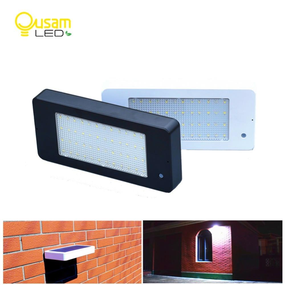 luz solar ao ar livre sensor de movimento radar 800lm 48 lampada led auto lampada movido