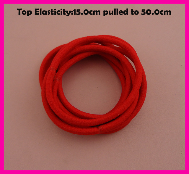 113PCS 13mm Top Elasticity Hot Red Elastic Ponytail Holders rope ...