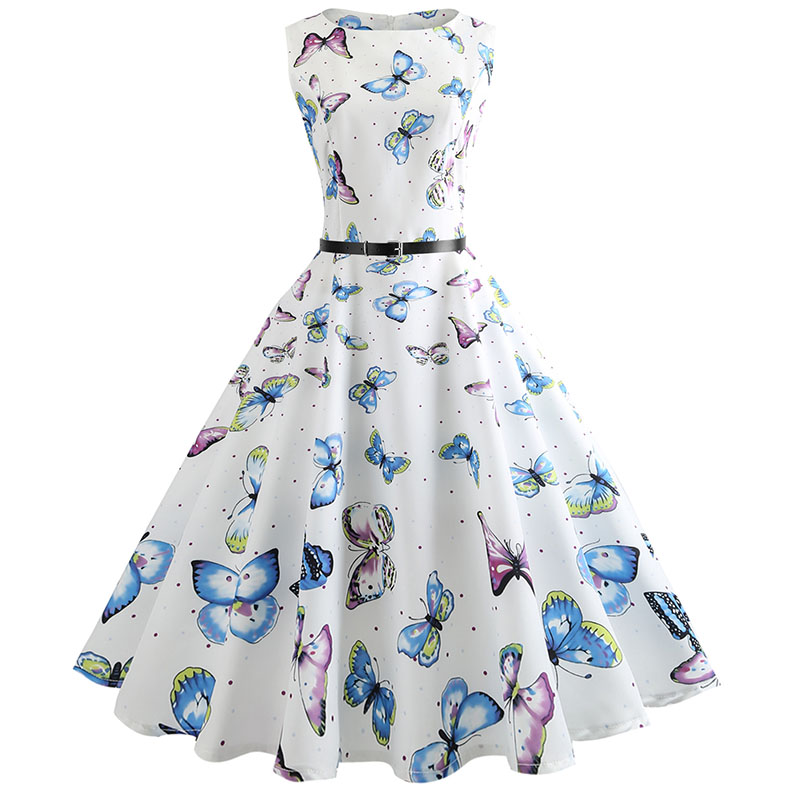 Blue Vintage Swing Dress 60
