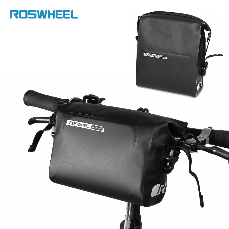Waterproof Bicycle Handlebar Bag 3L Bike Bags Front Tube Bag Pannier Accessories Cycling Bag ROSWHEEL DRY roswheel bike front tube bag waterproof bicycle handlebar basket pack cycling front frame pannier bicycle accessories