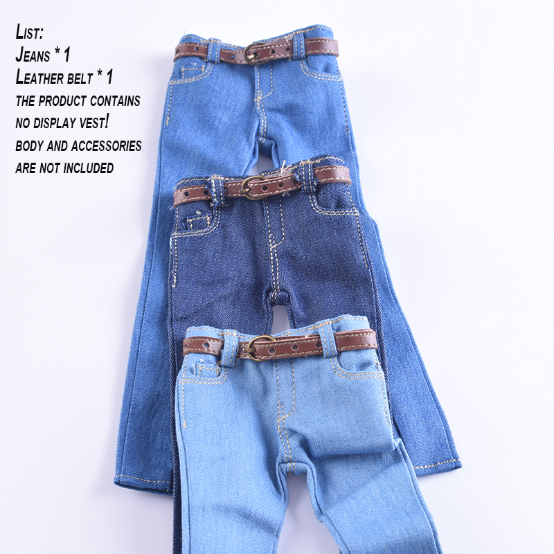1/6 Scale Women's Clothes Annex Female skinny Jeans Tight CF001 A/B/C for 12 Inch PH Doll Jiaoudol BodyAction Figure Accessories-1