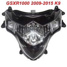 For 09-15 Suzuki GSXR1000 GSXR 1000 GSX-R 1000 K9 Motorcycle Front Headlight Head Light Lamp Headlamp CLEAR 2009 2010 2011-2015 injection mold fairing kit for suzuki gsxr1000 09 10 gsx r gsxr 1000 k9 2009 2010 hot red white abs fairings set 7gifts sz16