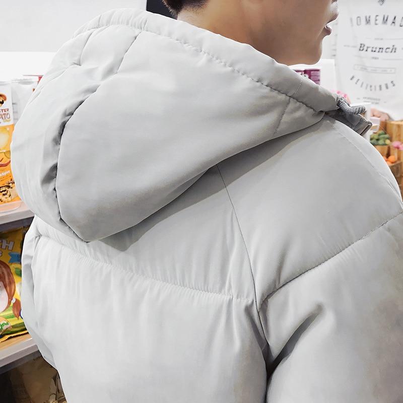 Chaqueta De Para Cremallera Cálido Tamaño Grueso Negro Hombres Bolsillos Coreano Con Abrigo Capucha Invierno Estilo blanco Moda Casual Ropa Hombre Parkas Plus ZvxwFrqIv6