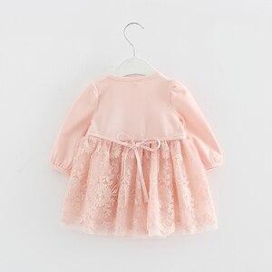 Image 3 - Koronkowy haft perły dziewczynek sukienka dziewczynka ubrania sukienki dla dzieci dzieci odzież suknia vestidos 0 2 lat 3 kolor