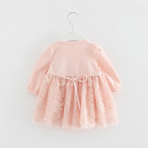 Image 3 - Đầm Ren Ngọc Trai Bé Gái Váy Đầm Bé Gái Quần Áo Cho Bé Đầm Trẻ Em Quần Áo Bầu Vestidos 0 2 Yrs 3 Màu