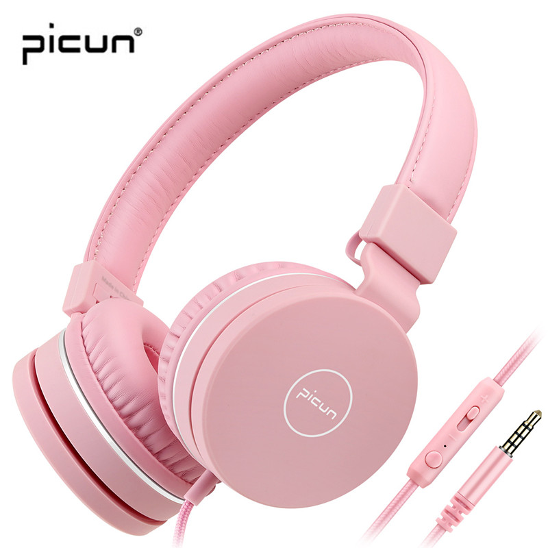 True Picun C30 Portable Kids Headphones Safety Children Headset With HD Mic & Adjustable Headband For Girl Boys Study Gaming