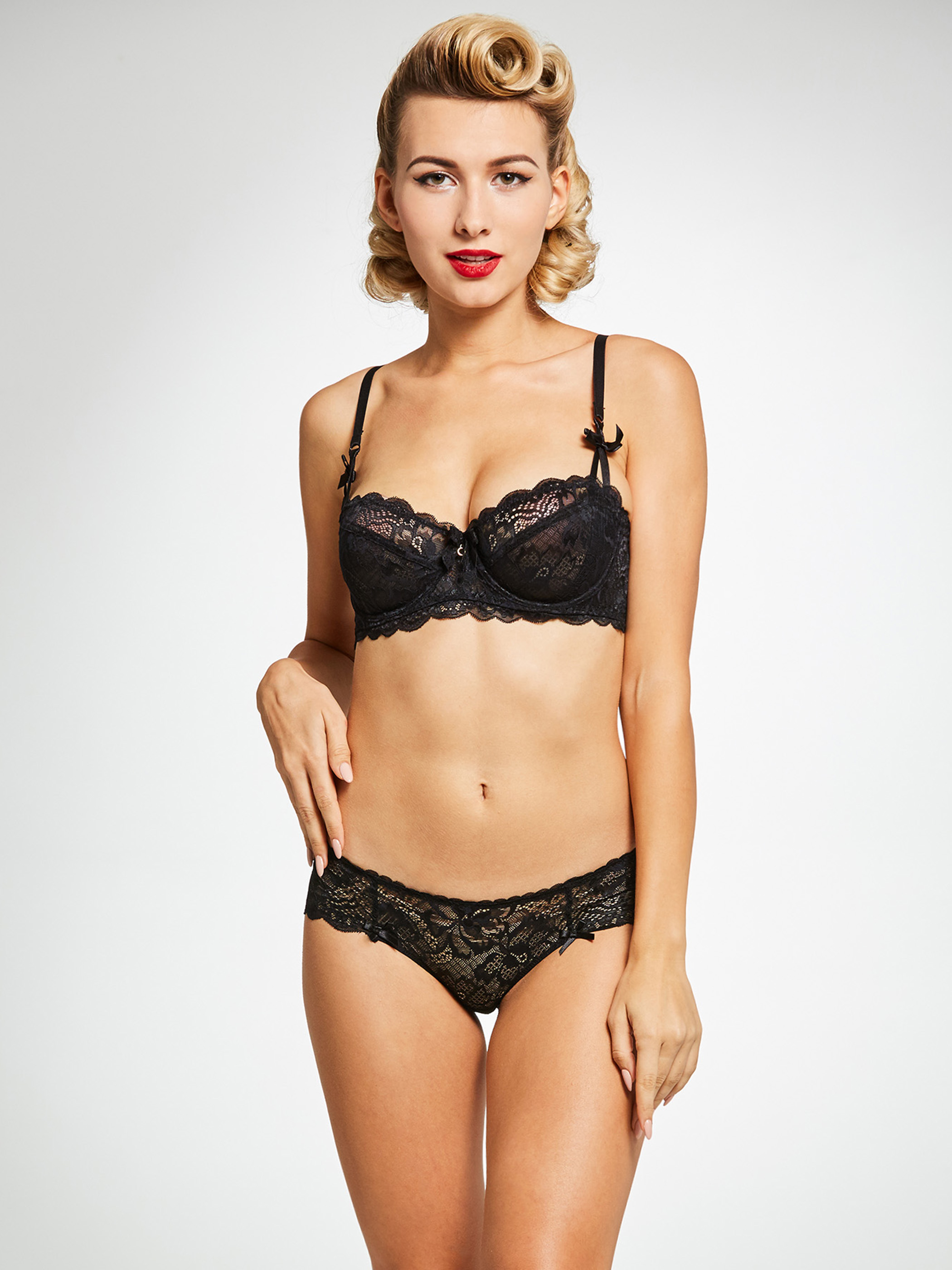 Black Lace Up Intimates