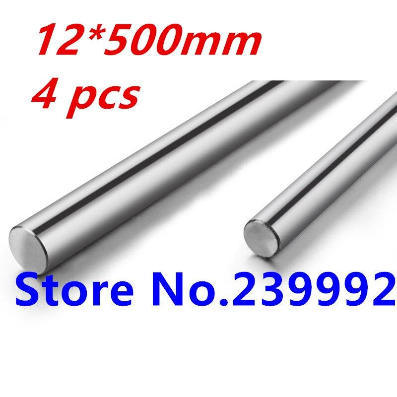 Best Price 4 pcs Diameter 12mm L500mm Cylinder Linear Rail Shaft Linear Motion Shaft for CNC