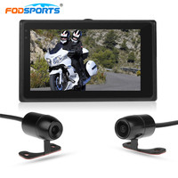 Fodsports 3 Inch Upgraded T2 Wifi Motorcycle DVR 1080P Video Recorder Waterproof Camera With Wired Controller Dash Cam