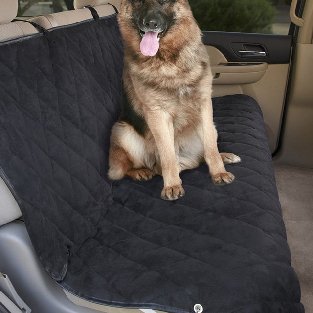 Car Bench Seat Covers >> Aliexpress Com Buy Mdstop Soft Suede Pet Dog Car Back Seat Cover
