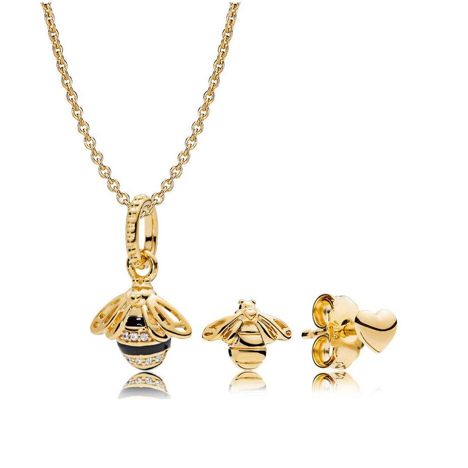 Kristie 100% sterling silver earrings 925 honeybee sweet earring charm beads suitable for DIY pendant bracelet free deliveryKristie 100% sterling silver earrings 925 honeybee sweet earring charm beads suitable for DIY pendant bracelet free delivery