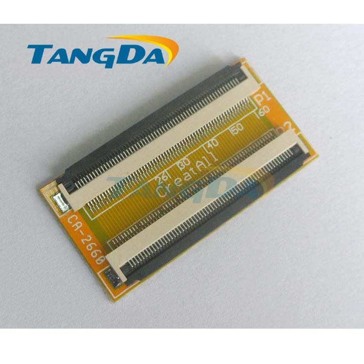 Tangda <font><b>connector</b></font> TFT LCD screen FPC FFC 0.5mm spacing extend Cable Wire lengthen Adapter plate 60p <font><b>60pin</b></font> clamshell below connect image