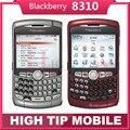 Оригинальный разблокирована Blackberry 8310 кривая Qwerty телефоны 2-МЕГАПИКСЕЛЬНАЯ Восстановленное Quad band Смартфон Бесплатная Доставка 1 год гарантии