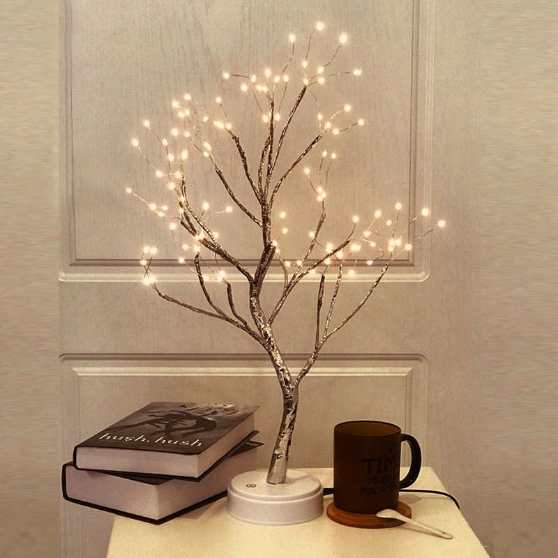 Switch control Tree Bright LED Lamp 108LEDS Copper Wire Firetree Tree Lamp Light For Home Christmas Holiday Decor USB