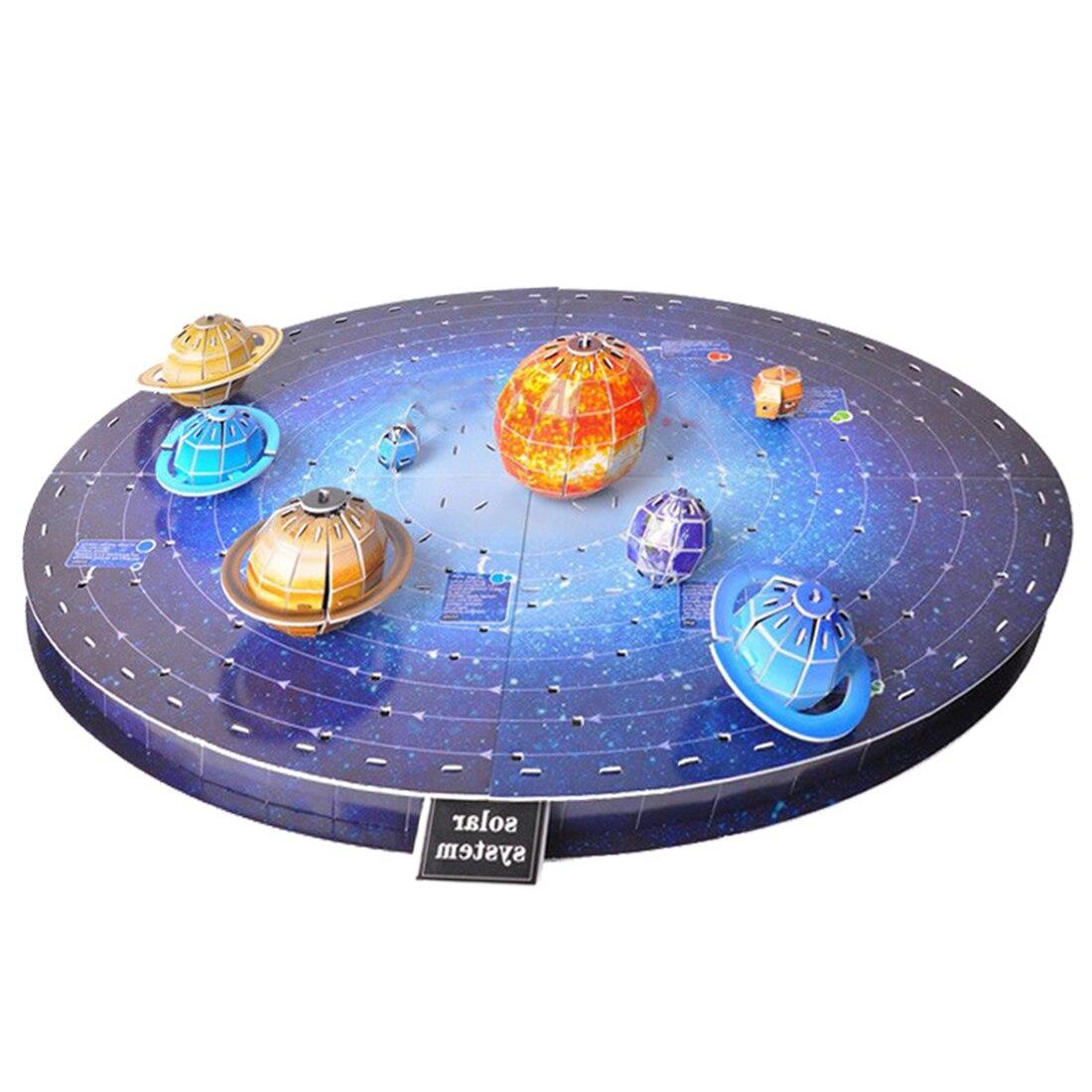 146Pcs 3D Solar System Puzzle Set Planet Puzzle Board Game 3D Paper DIY Jigsaw Puzzle Toy 3d Puzzle Toys Model For Children Boys