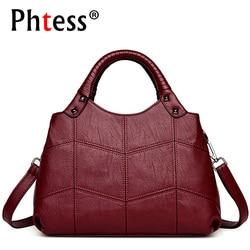 2018 Women Leather Handbags Vintage Casual Tote Bags Female Designer Brand Crossbody Shoulder Bag Ladies Hand Bag Sac A Main