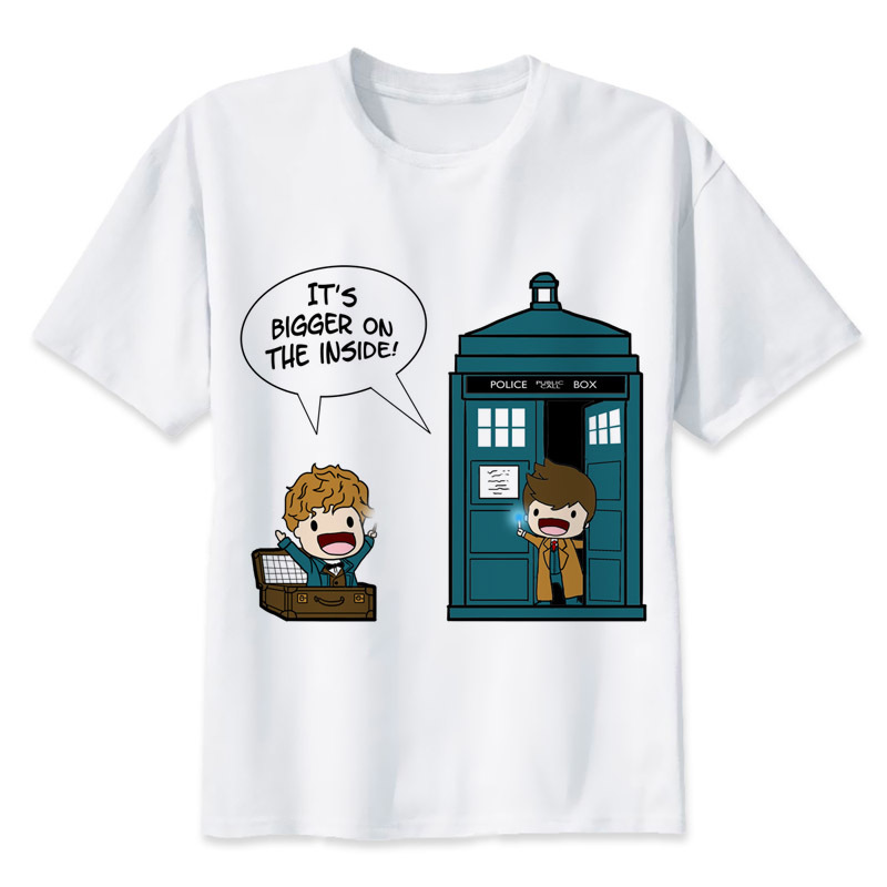 Gildan Doctor Who t shirt men cartoon 2017 cool funny white tshirt print T-shirt men Tees MR1120