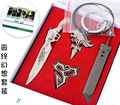 4PCS/PACK Final Fantasy Knife Cloud Strife Weapon Sword Model Necklace Keychain 12cm Fans Action Figure Toy Collection