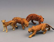 pvc figure wild animals toy leopard model panther tiger toys children birthday gift toys holiday gift ornaments 4pcs/set