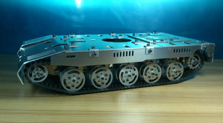 WST Oversized model tank chassis independent suspension damping chassis for crawler robot Remote control model tanks football cart remote control robot football science model diy scientific experiments for schoolchildren