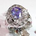Sporty Amethyst Cubic Zirconia round Trendy Jewelry Silver Plated RING Wholesale R4a27 sz# 8 9 Romantic Style Women Jewelry Gift