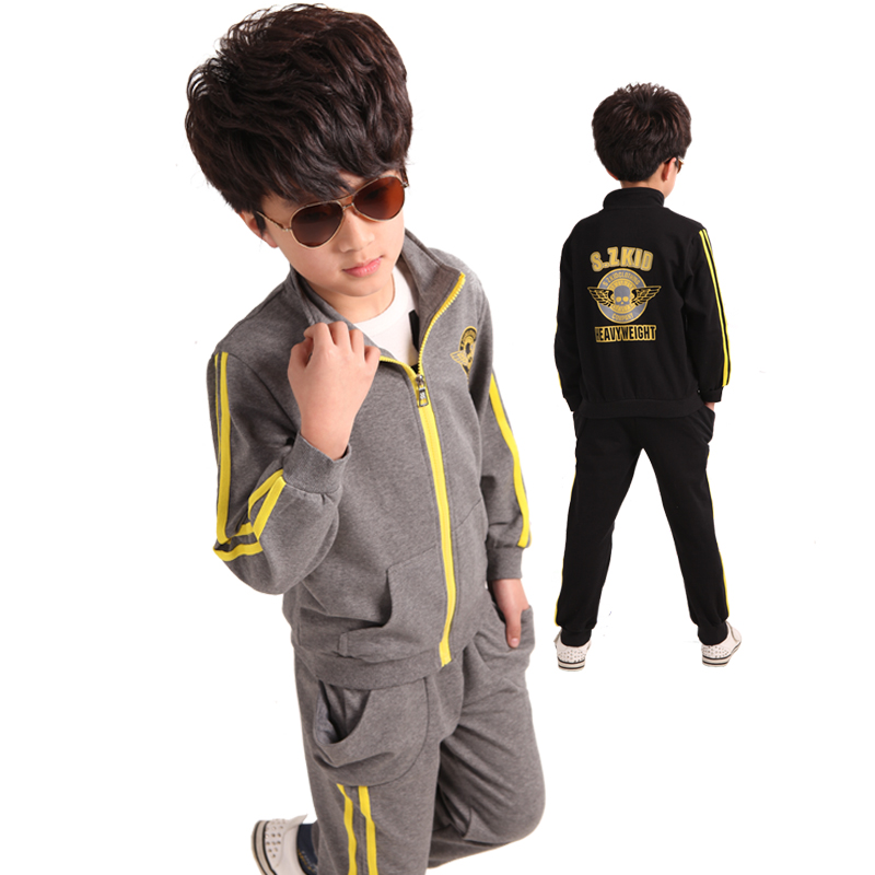 Free shipping new arrival spring/autumn boy clothing set 100% cotton jacket+pants boy sports suit new arrival spring autumn children clothing set 100% cotton boy leisure navy style long sleeve t shirt pants suit free shipping